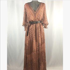 Massimo Dutti Floral Maxi Dress